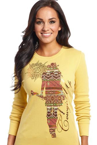 Cowgirl Up Southwest Vintage Thermal