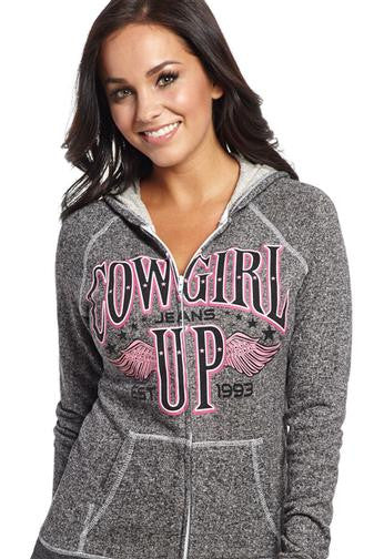 Cowgirl Up Terry Zip Hoodie