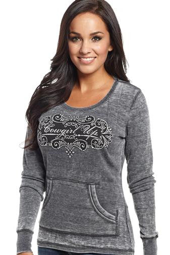 Cowgirl Up CGU Script Pocket Thermal