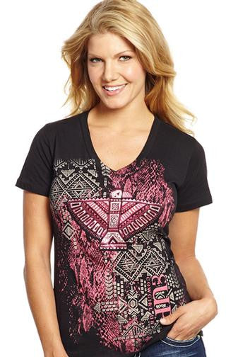 Cowgirl Up Tribal V-Neck Tee