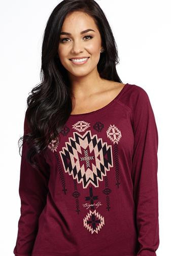 "Cowgirl Up ""Aztec Dream"" Long Sleeve Tee"