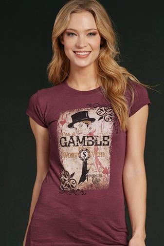 "Cowgirl Up ""The Gambler"" Tee"