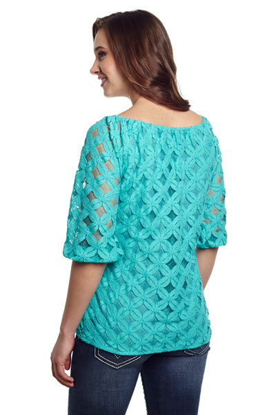 Cowgirl Up Scoop Neck Dolman Sleeve Top