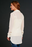 Cowgirl Up Long Sleeve Chiffon Button Down