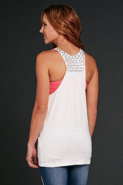 Cowgirl Up Button Up Racer Back Tank w/ Patch Pockets & Embellishment