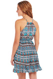 Cowgirl Up Tie-Front Pleated Navaho Dress