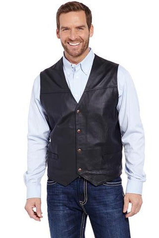Cripple Creek Snap Front Leather Vest