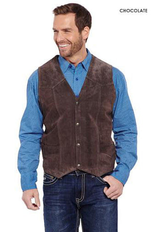 Cripple Creek Snap Front Suede Leather Vest