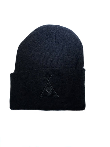 Beanie - Black on Black