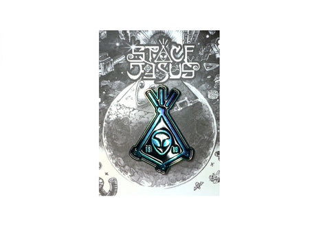 Iridescent Space Jesus Pin