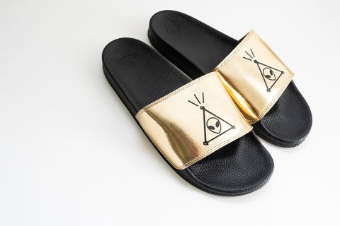 Space Jesus Slides -Gold