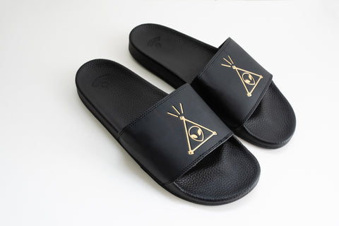Space Jesus Slides - Black