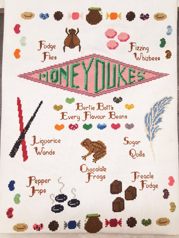 Honeydukes Candy Sampler - Cross Stitch Kit