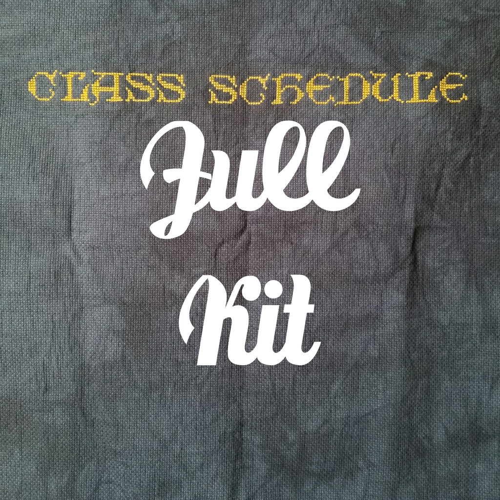 Class Schedule StitchAlong - Full Kit & Needle Minder