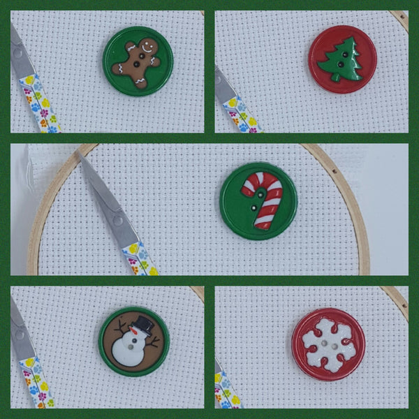 Needle Minder - Christmas Buttons