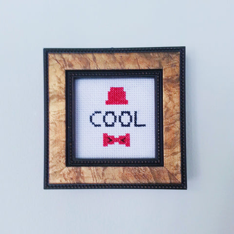 Dr Who is COOL - Cross Stitch Kit
