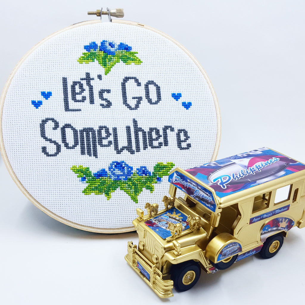 Let's Go Somewhere - Cross Stitch Pattern Download