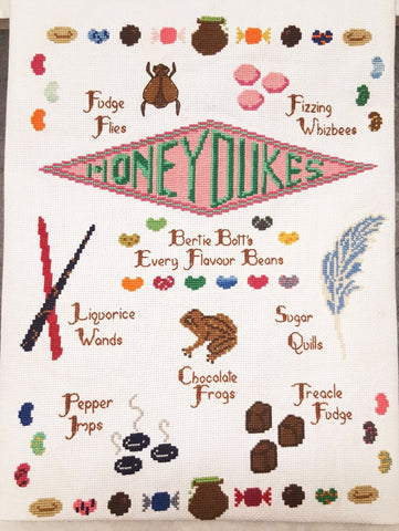 Honeydukes Candy Sampler - Cross Stitch Pattern Download