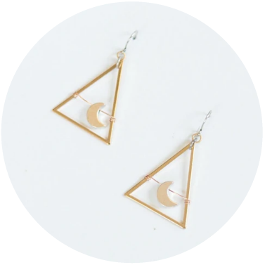 Mini Moon Dance Earrings // Gold Plated