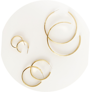 Medium Star Hoops // Brass