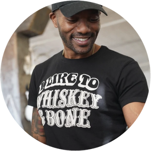 I Like to Whiskey and Bone tee