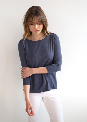 The Three-Quarter Sleeve Crewneck