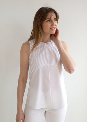 The Cotton Plisse Tunic