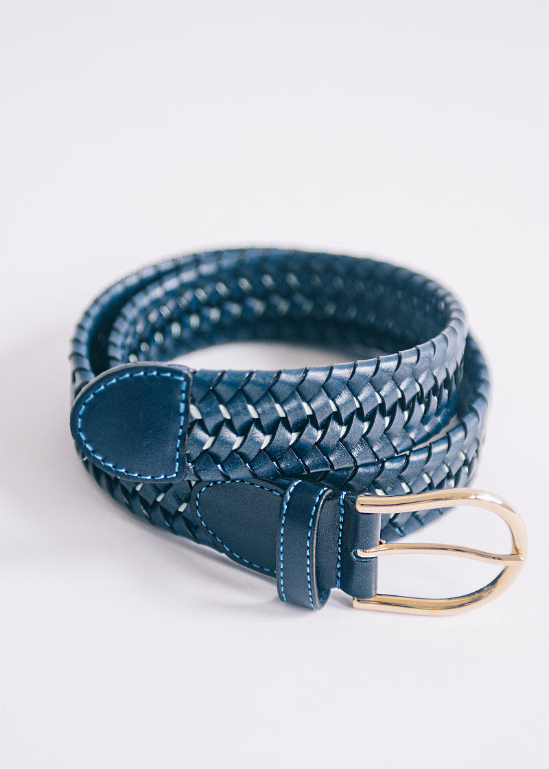 The Braided Belt - Oxford Blue