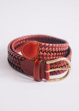The Braided Belt - Tuscan Red