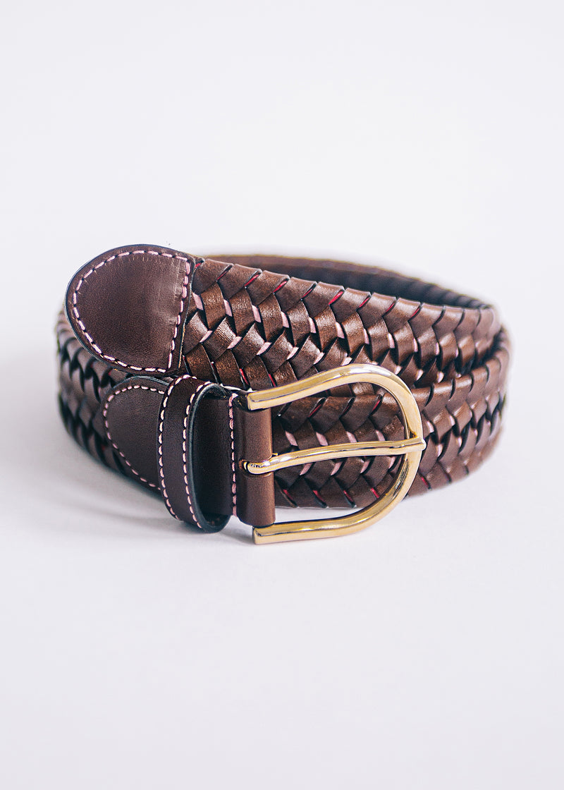 The Braided Belt - Chestnut