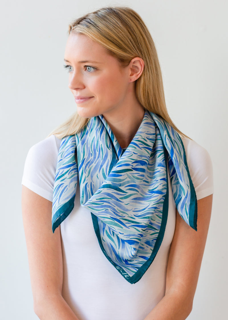 Watercolor Waves Scarf
