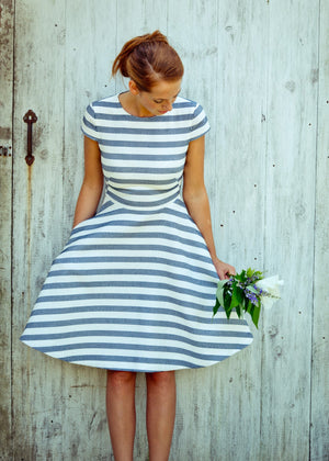The Crewneck Circle-Skirt Dress