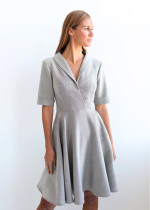 The Shawl Collar Dress