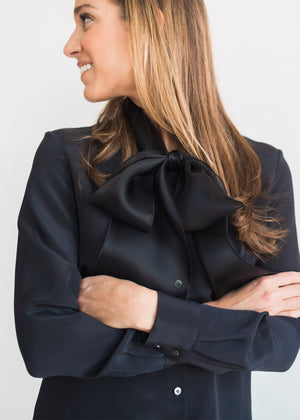 The Silk Organza Bow Blouse