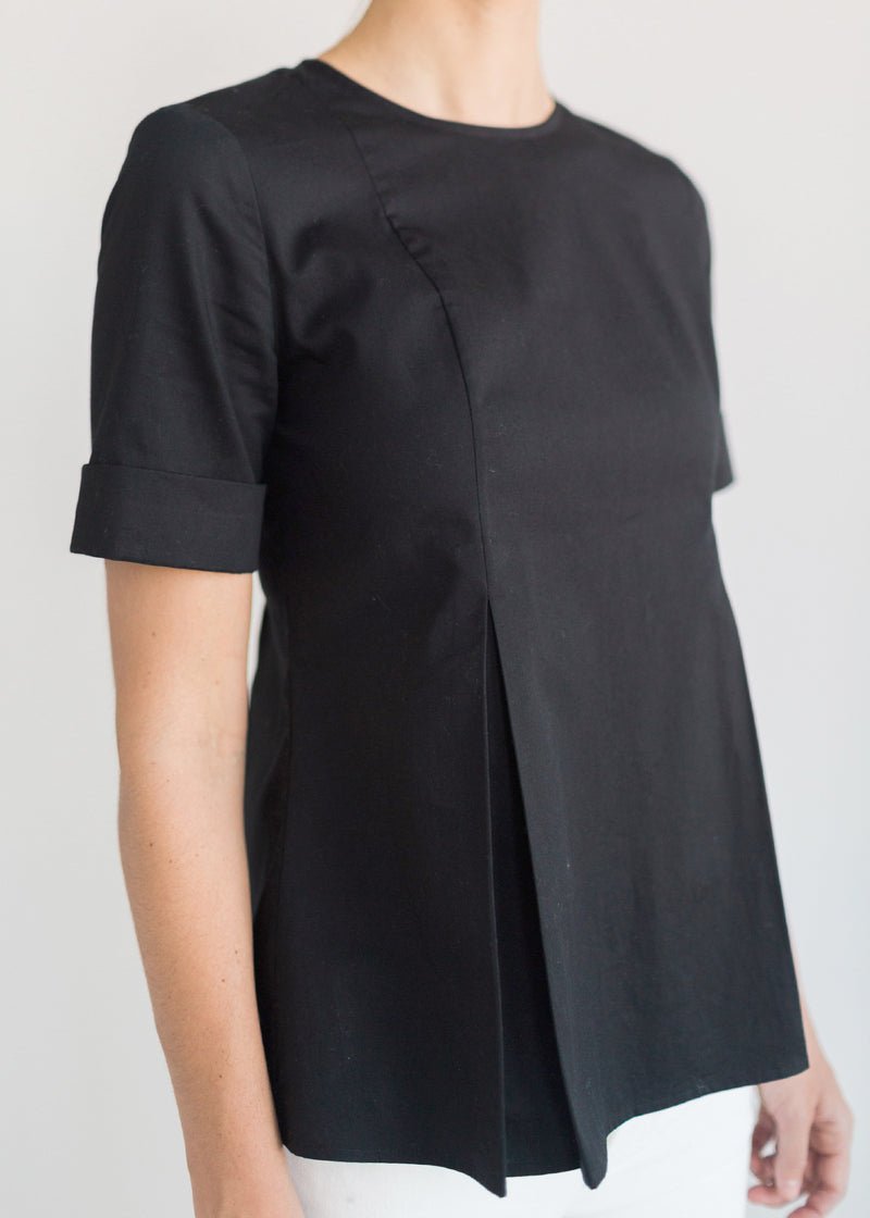 The Cotton Inverted Pleat Top