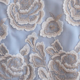 Embroiderd Lace - Blue & Silver