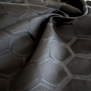 Honeycomb Organza - Black