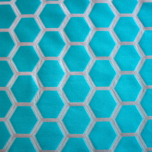Honeycomb Organza - Turquoise