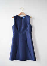 Structured Silk Wool - Navy