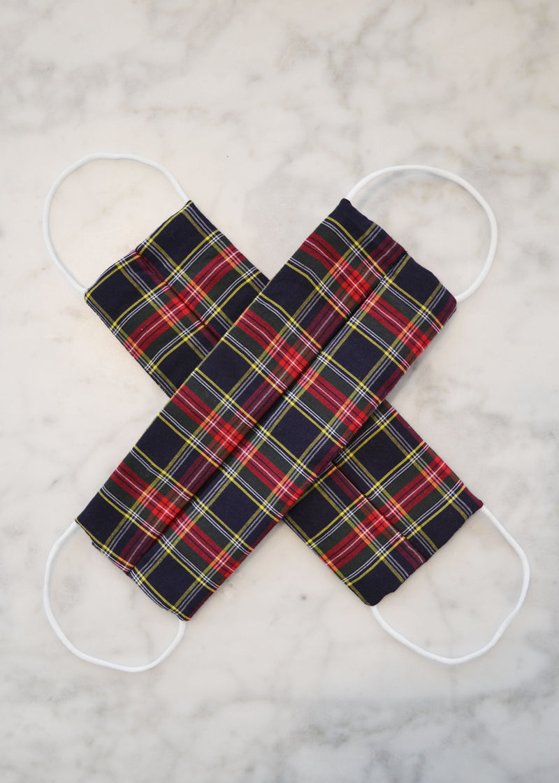Cotton Face Mask (2 pack) - Holiday Red Tartan Plaid