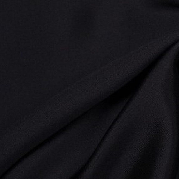 Heavy Silk Wool - Black