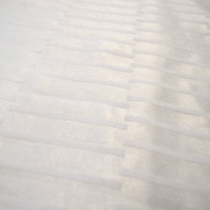 Striped Organza - White