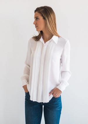 The Silk Pintuck Blouse