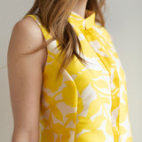 Yellow & White Floral Cut-Out
