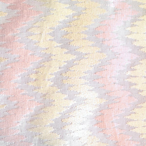 Zig Zag Indian Textile - Pink & Yellow