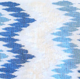 Embroidered Zig Zag -  Blue & White