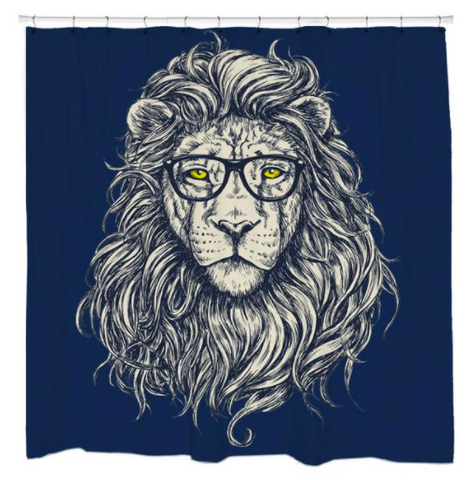 The Hipster Lion Curtain