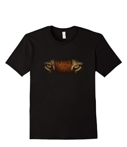tiger eyes animal t-shirts
