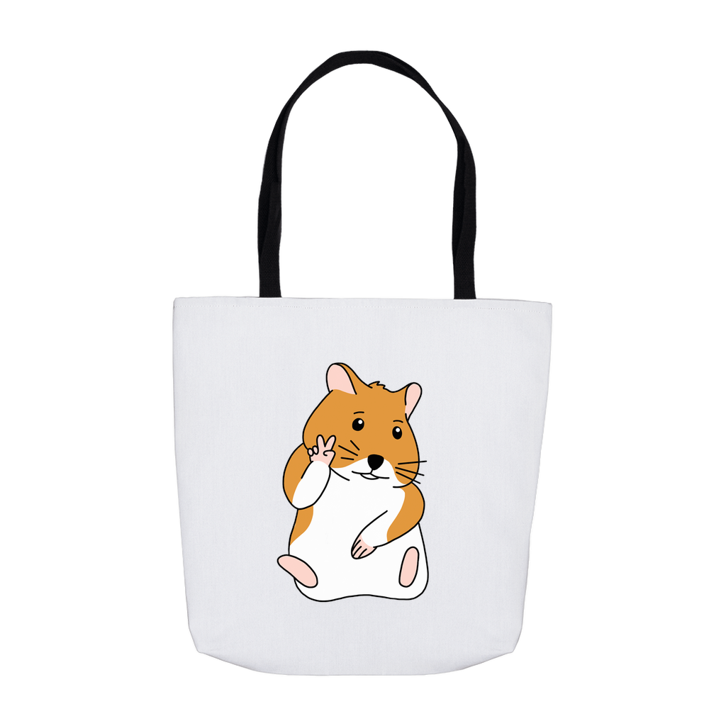 Hamster Peace Sign Tote Bag