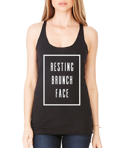 Resting Brunch Face Racerback Tank Top